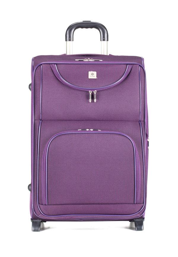 Чемодан 4 ROADS 02WGI-6 (21) фиолетовый + замок