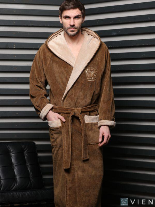 Халат мужской ATLETIK бамбук 1027 3XL мокко