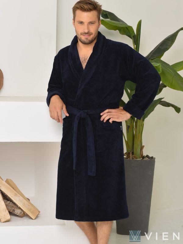 Халат мужской LORD бамбук 1106 5XL нави