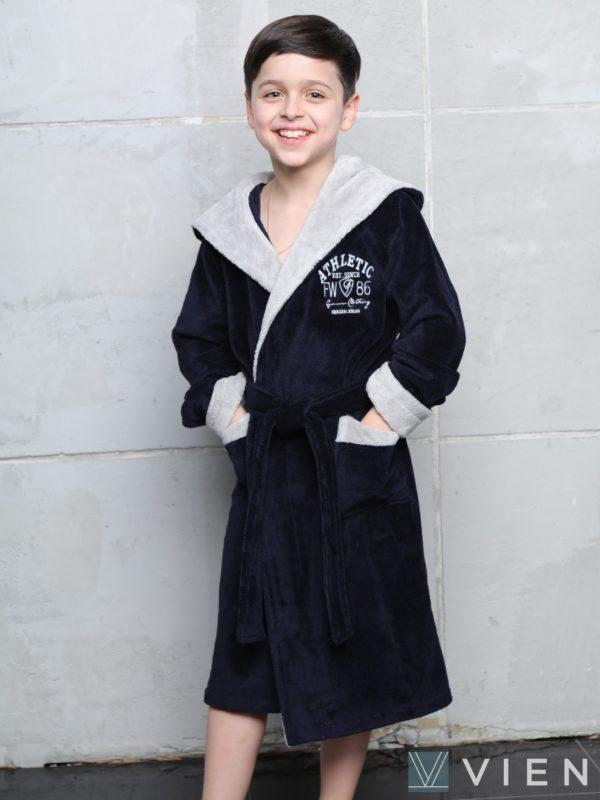 Халат подростковый ATHLETIK JUNIOR 1065 нави 14 лет