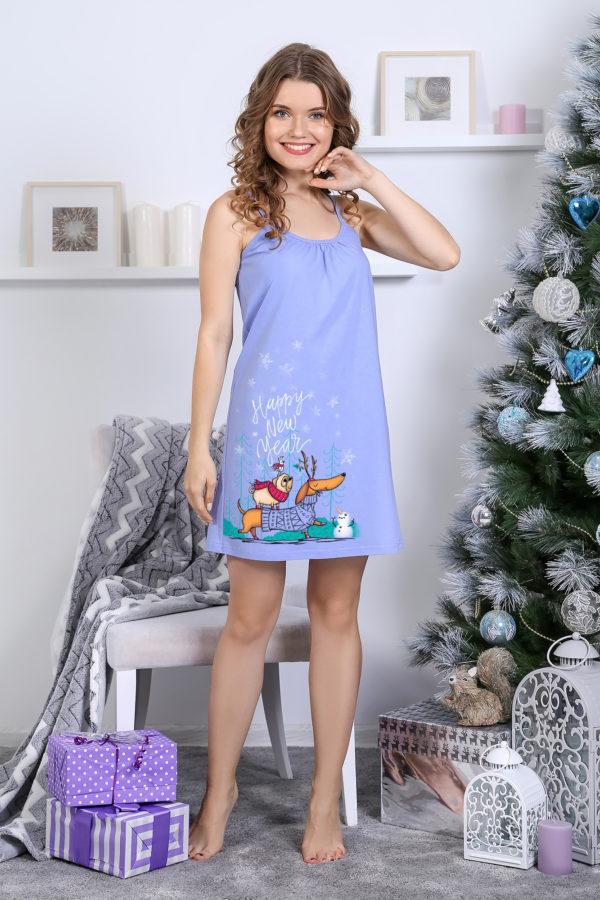 Сорочка «Сувенир» голубой